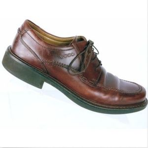 Ecco Men's Boston Brown Leather Oxford Shoe Size 8